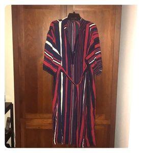 Zara Striped Button Dress with the waist